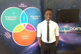 Introducing Prince Gandifere to the FEO Work experience programme